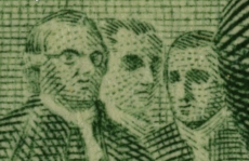 There is a guy wearing glasses on the 2 dollar bill Gigapan