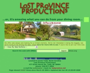 Lost Province Productions Ric's Hosting Site
